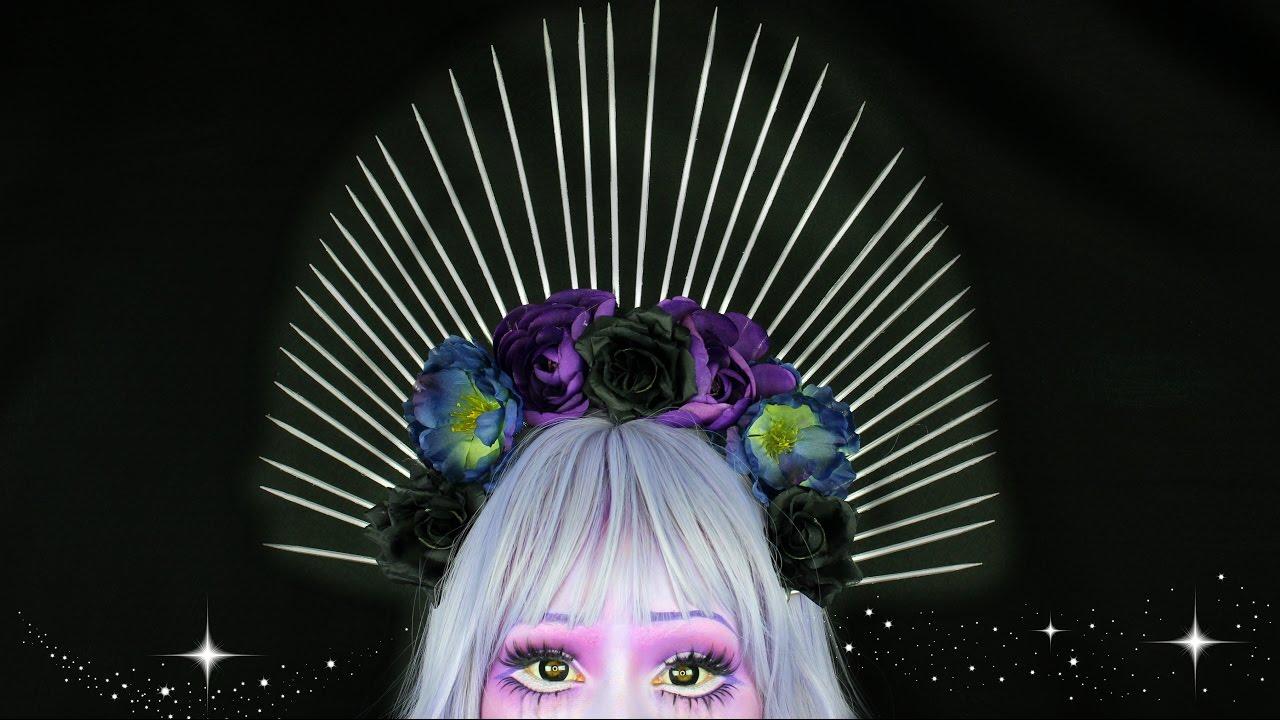 Diy Halo Flower Crown Youtube