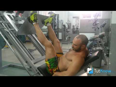 Жим ногами в тренажере: техника выполнения