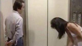 Undress in elevator