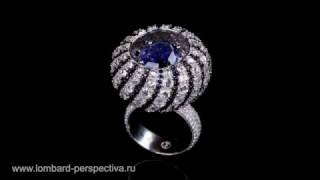 Кольцо с бриллиантами и сапфиром(, 2016-12-16T07:50:10.000Z)