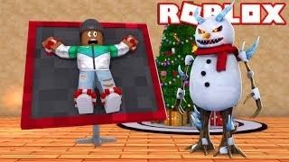 CAPTURED BY THE EVIL SNOWMAN! - Roblox Flee The Facility Christmas thumbnail