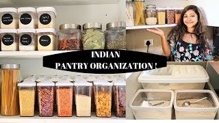 INDIAN SMALL PANTRY ORGANIZATION 2019 | Maximum UTILISATION of a small space | Renter Friendly tips