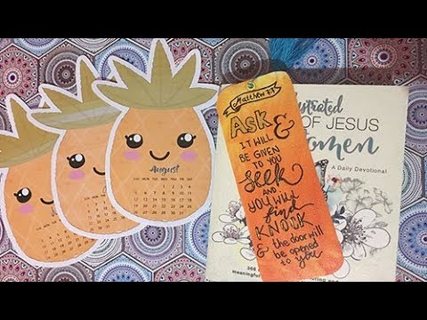 Easy bookmark - Color mixing - Devotional Book for Women + FREE Pineapple Printables