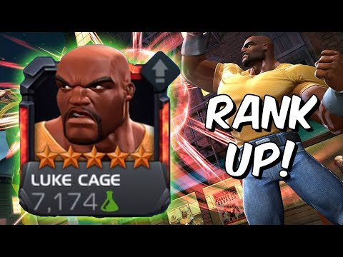 5 Star Luke Cage Rank 4 Rank Up & Gameplay! - Marvel Contest Of Champions