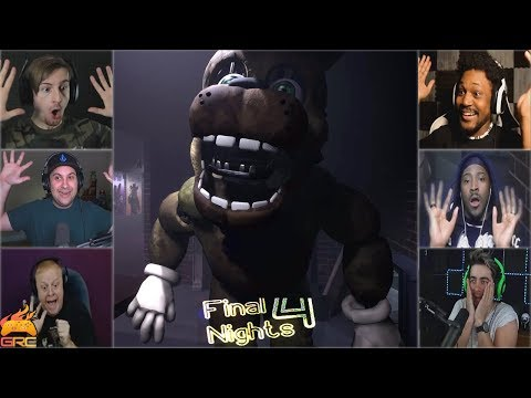 Gamers Reactions to the Spring Bonnie Walking in to the Room | Final Nights 4: Demo