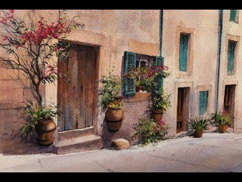 Painting Mallorca ⎮ Watercolour Landscape ⎮ Geoff Kersey