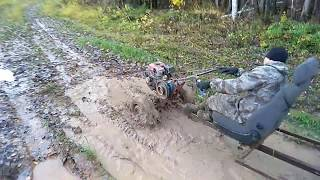 Жесткий гряземес, в грязи по самый бак, покатушки на мотоблоках. Часть 2.