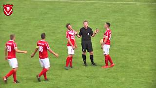 Referee accidentally scores goal