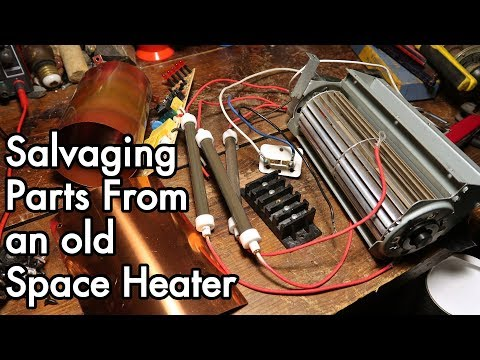 Salvaging Useful Parts from an old Space Heater: EdenPure infrared heater teardown