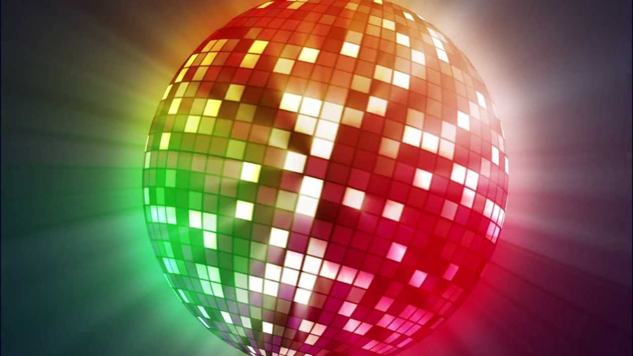 disco ball animated video background loop