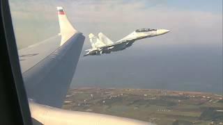 Aviones de combate rusos escoltan a Putin en cielo de Siria