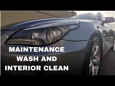 BMW 520D E60 MAINTENANCE WASH AND INTERIOR CLEAN