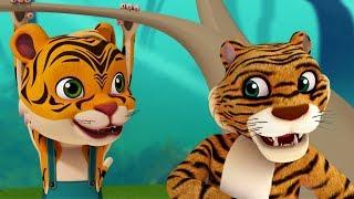 Papa Papa Baagh Papa Tiger Song | Hindi Rhymes for Children | Infobells