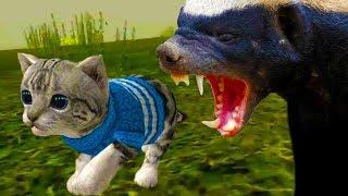 СИМУЛЯТОР Маленького КОТЕНКА #3 побег змеи / выживание котиков #ПУРУМЧАТА