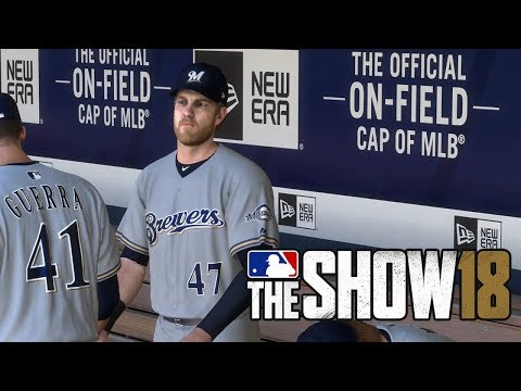 MLB The Show 18 Gameplay - San Diego Padres vs Milwaukee Brewers (MLB 18 Gameplay)