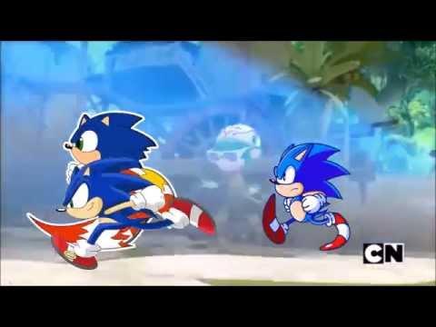Sonic Boom Modern Sonic Classic Sonic Race Youtube