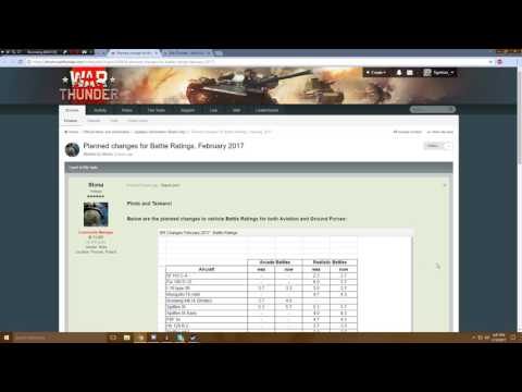 War Thunder - Upcoming Content - Battle Rating Changes (Opinions)