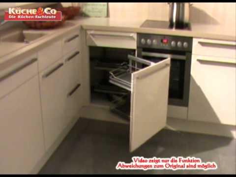 Küche&Co Eckunterschrank MagicCorner.wmv - YouTube | {Kücheneckschrank 80x80 94}