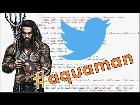 HowToDataScience : Scraping Twitter Data - YouTube
