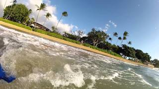 Testing GoPro HD at Hawaii Maui beach with the waves in Ocean water
