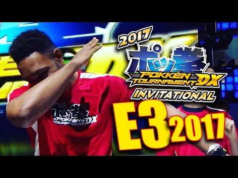 GETTING EXPOSED ON LIVE TV IN POKKEN TOURNAMENT DX! - [E3 2017 DAY 2&3]