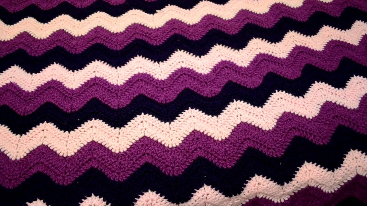 Knitting Pattern For Rippling Waves Afghan : Blanket I made using the ripple/wave stitch - YouTube