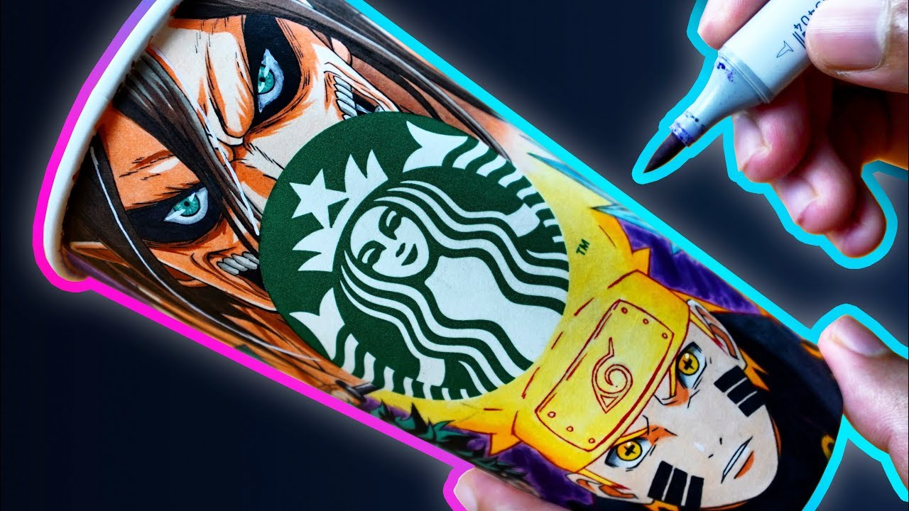 I Made An Epic Anime Theme Starbucks Cup 200k Special