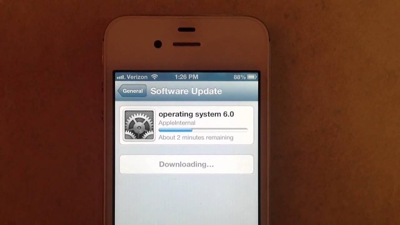 ios 6 beta 2 software update animation youtube