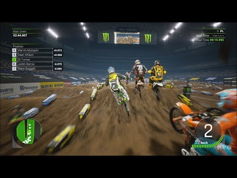 Monster Energy Supercross 2 - Houston (NRG Stadium) - Texas Gameplay (PS4 HD) [1080p60FPS]