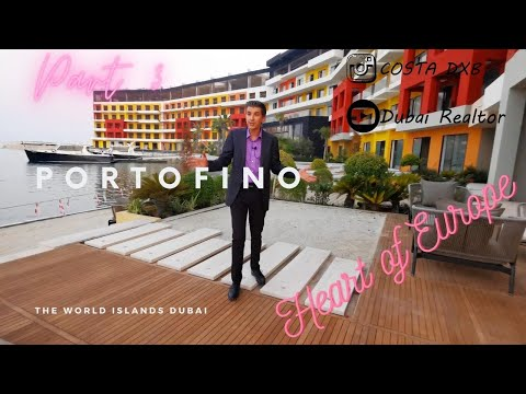 Journey to The World Islands Dubai Part 3.  Portofino Hotel in Heart of Europe. Bonus at the end