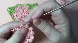 applique geometrico triangulo crochet