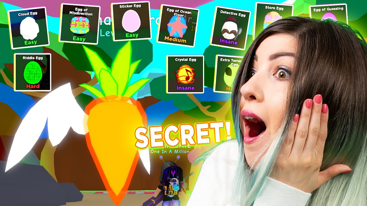 EGG HUNT and SECRET PET in ROBLOX Bubble Gum Simulator!