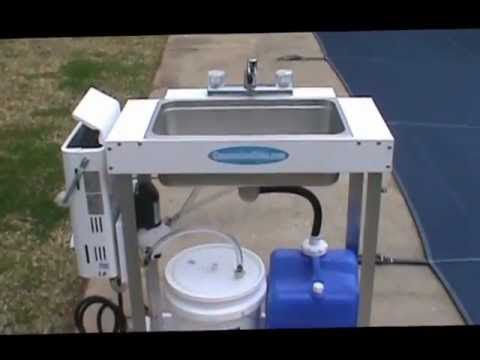 Electric Concession Sink for Food Trailer or Indoor Events - YouTube