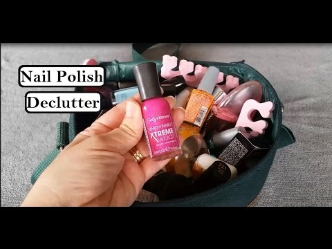 Nail Polish Declutter March 2016