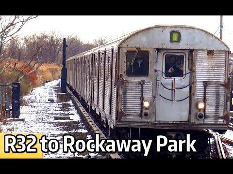 ⁴ᴷ R32 A Trains to Rockaway Park