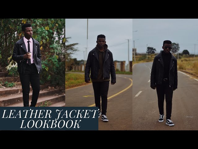 HOW TO STYLE A LEATHER JACKET  Men's Fashion   Outfit Inspiration   Bill Asura