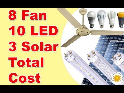 450 Watts Solar system 8 Fan 10 Lights Detail in Urdu Hindi Part 2