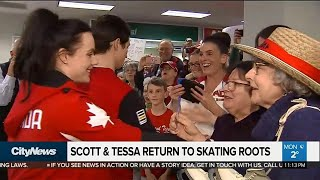 Olympic homecoming: Tessa Virtue and Scott Moir touchdown in Canada