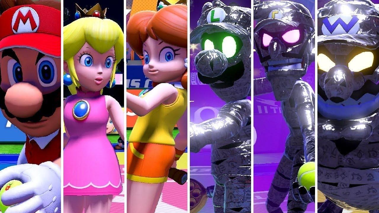 Mario Tennis Aces Mario Vs Dark Luigi Peach Daisy Vs Dark Wario Waluigi Battles