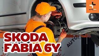 Como trocar tirante da barra estabilizadora dianteira Skoda Fabia 6Y TUTORIAL | AUTODOC