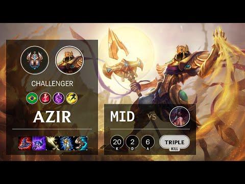 Azir Mid vs Akali - BR Challenger Patch 10.16