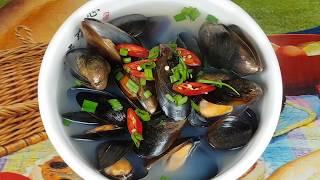 Как готовить Корейский суп из мидий рецепт 홍합탕 Korean Mussel soup recipe