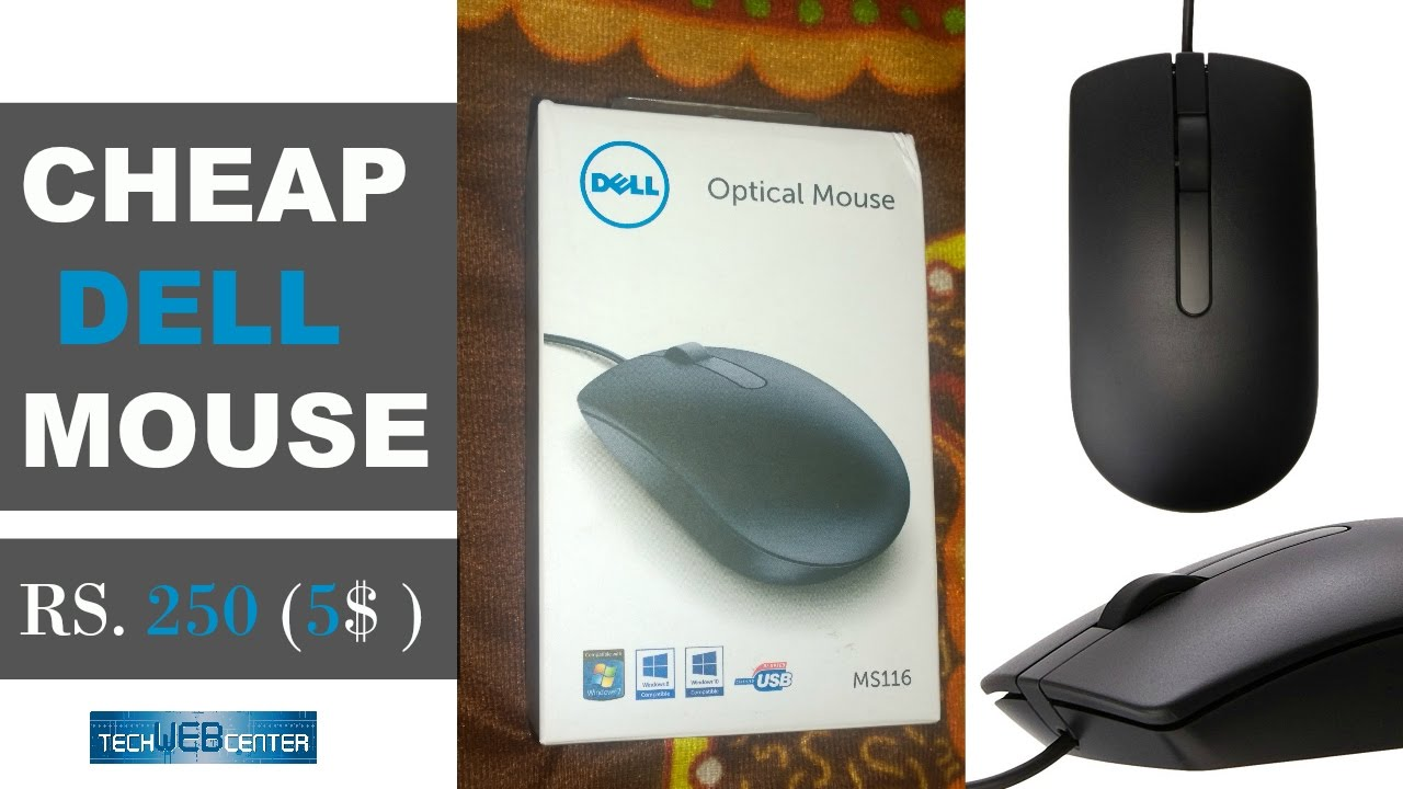 cheap and best budget dell ms116 usb wired optical mouse unboxing and review youtube. Black Bedroom Furniture Sets. Home Design Ideas