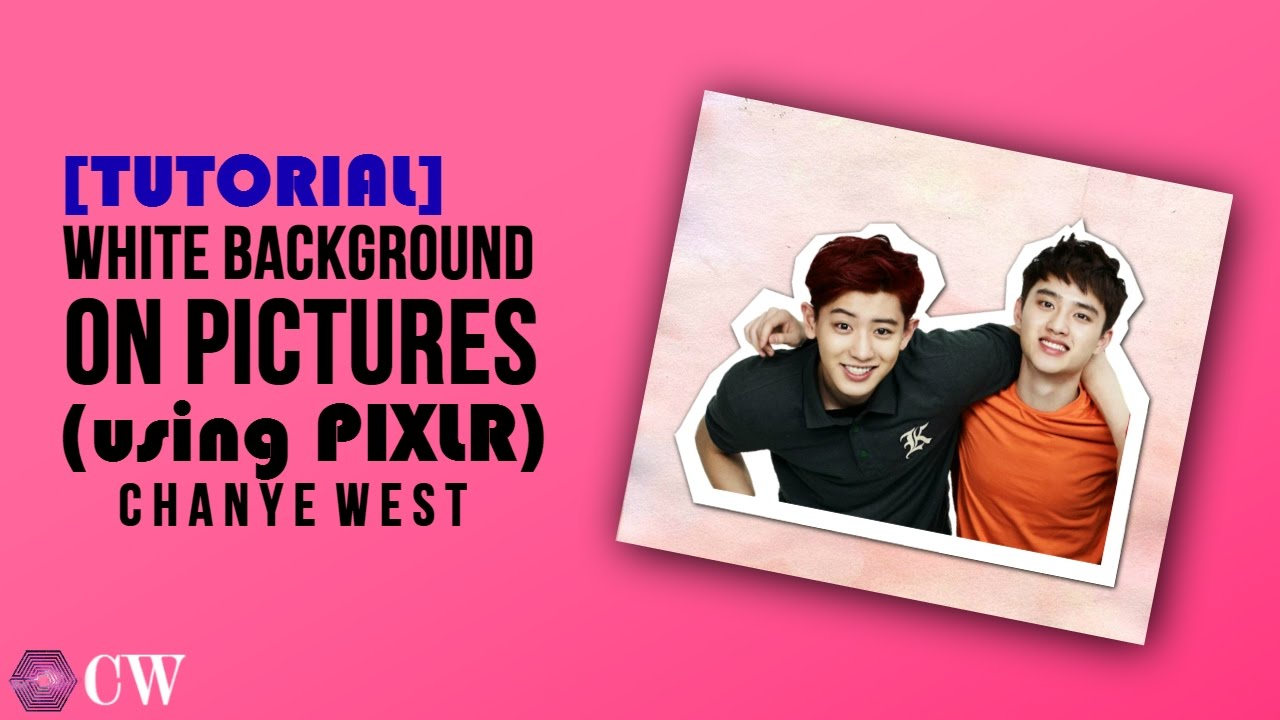 Tutorial White Background On Pictures Using Pixlr Youtube
