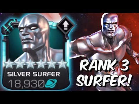 6 Star Rank 3 Silver Surfer Rank Up & Gameplay! - Endgame Showcase - Marvel Contest Of Champions