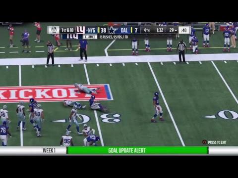 NMFL- Week 1 Sunday 8PM/ Giants@Cowboys
