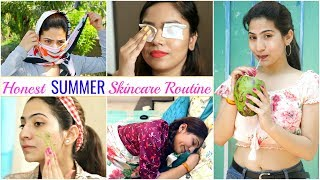 Honest 'SUMMER' Skincare Routine - Day to Night Routine  | #Beauty #Hacks #Comedy#Anaysa