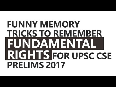Funny Memory Tricks to Remember Fundamental Rights by Roman Saini [UPSC CSE/IAS, SSC CGL]