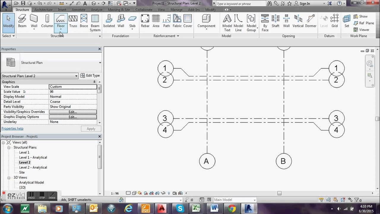 Modeling a 6m high water tower on Autodesk Revit Structure - Part 1