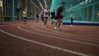 Running. Indoor training